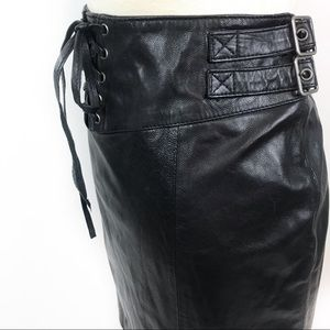 NEW Lovers + Friends Black Leather Mini Skirt, SM